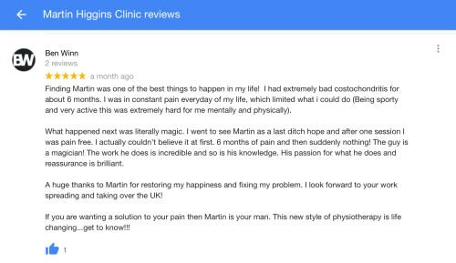 Sports Injury Treatment Martin Higgins Sports Injury Clinic Review