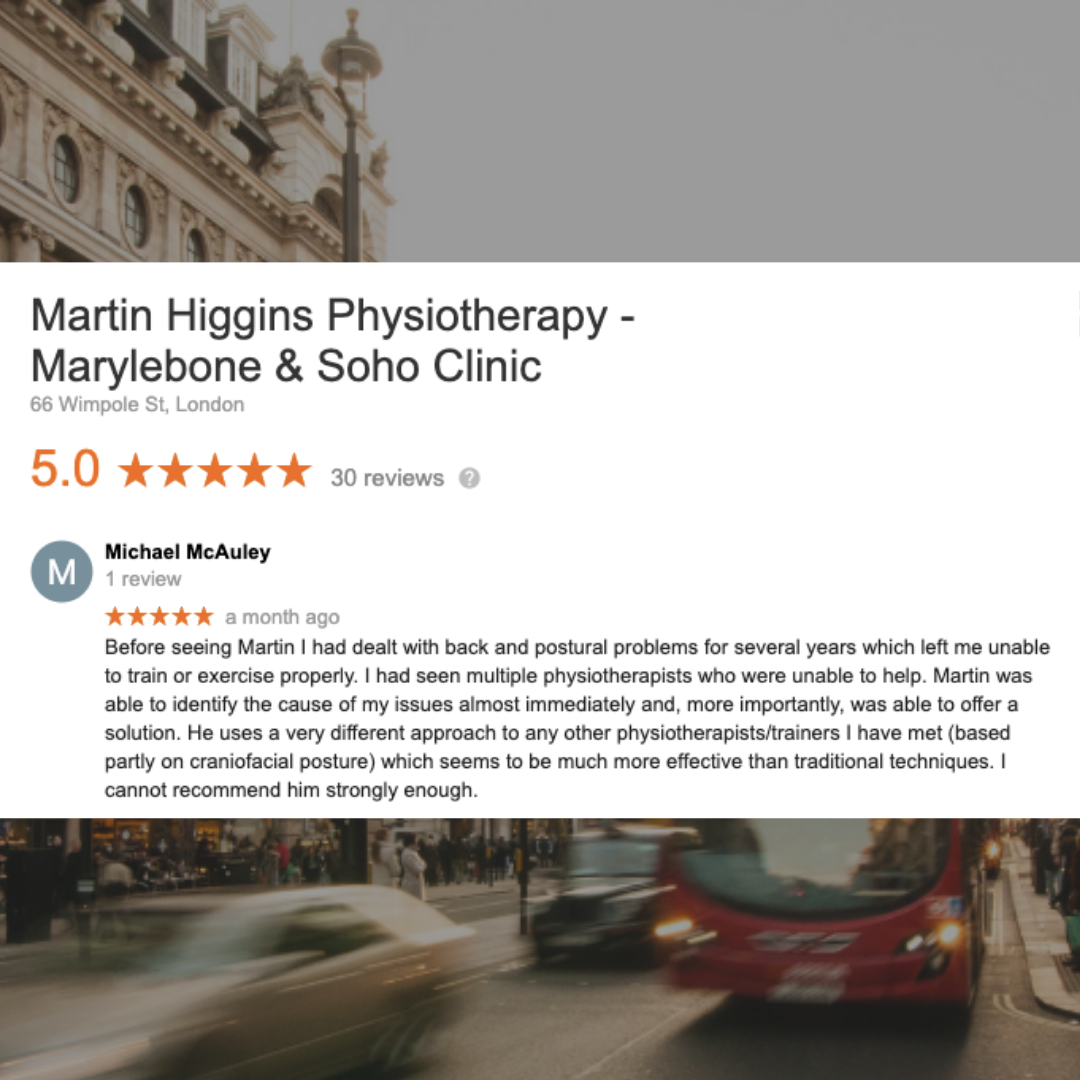 Google Review The Best PRI Postural Restoration Physiotherapist London UK Mobile