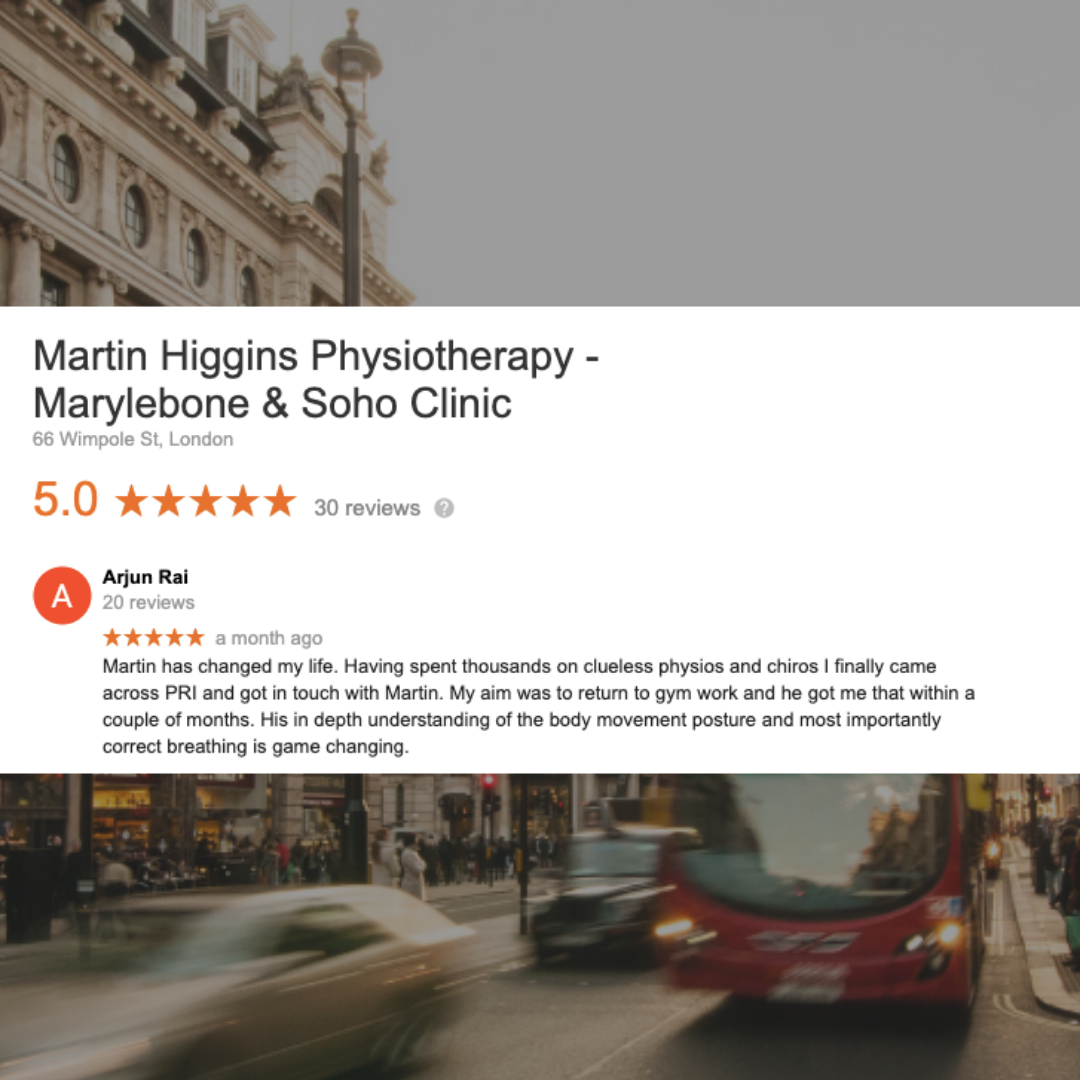 Google Review The Best Physio London Mobile