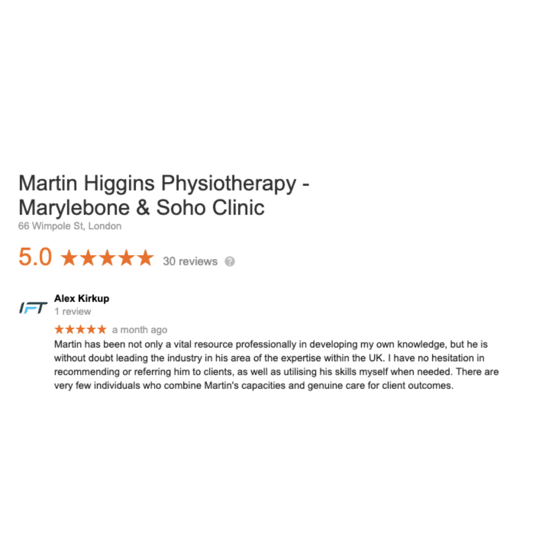 Google Review The Best Physio London UK
