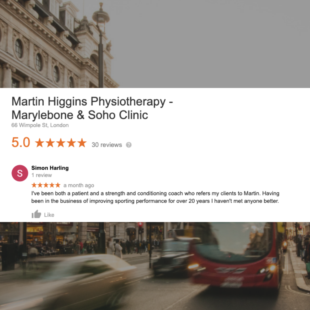 Google Review The Best Physiotherapist London Mobile