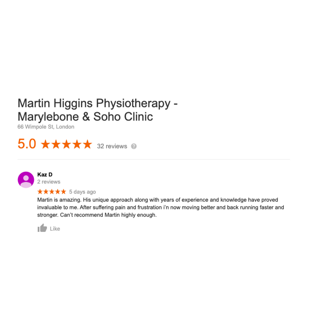 The best sports injury clinic marylebone london google review