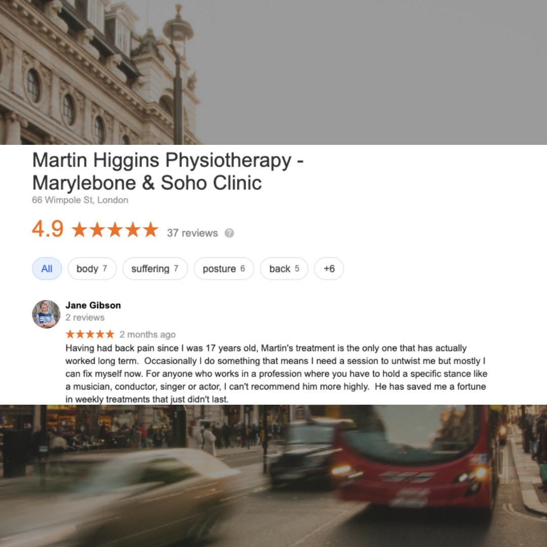 Google Review The Best Physio For Back Pain Clinic Marylebone London Mobile